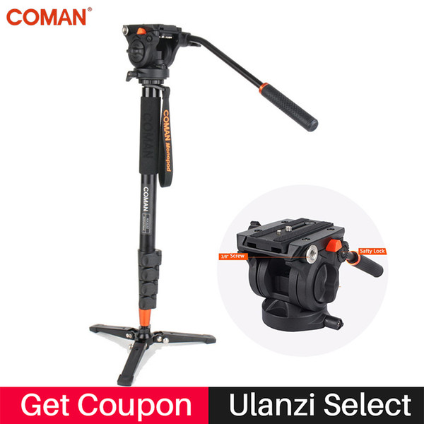 wholesale Photography Camera Tripod Aluminum Monopod Fluid Video Head with Three feet Support Stand for Nikon Canon Sony Pentax DSLR