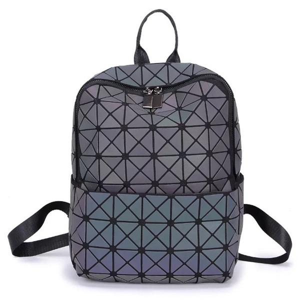 Mode Rucksack Männer und Frauen Umhängetaschen Neue Designer Schultaschen Laser Diamantgitter Rucksack Lässig Reisetaschen Kostenloser Versand