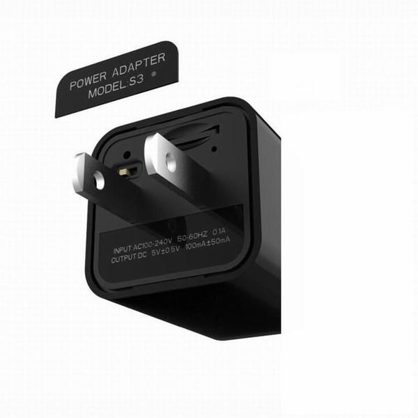 Alta calidad Adaptador USB Cargador Mini cámara UE / EE. UU. Enchufe HD 1080P Cámara de pared S2 S3 Detección de movimiento Grabador de video Videocámara DV de seguridad