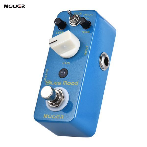 MOOER Blue Mood Blues Style Overdrive Guitar Effect Pedal 2 Modes(Bright/Fat) True Bypass Full Metal Shell