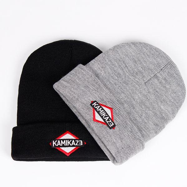 Kamikaze Knitted Hat Eminem Latest Album Hats Elastic Brand KAMIKAZE Embroidery Beanie Winter Warm Skullies & Beanies Ski Cap