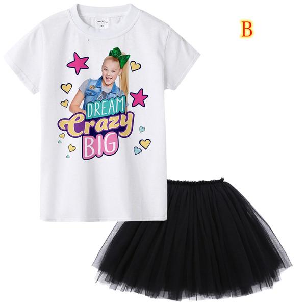 1Y Için 12Y Jojo Siwa Kız Yaz Giyim Seti Moda Çocuk Giysileri Suit Tops + Tutu Etek Elbise 2 Adet Bebek Roupas Infantis Menina MMA901 30