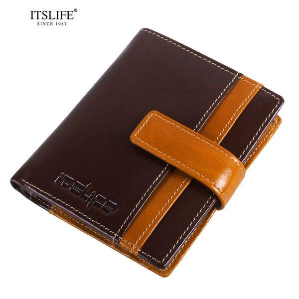 RFID bloqueando billetera de cuero de vaca billetera de cuero genuino de las mujeres tríptico diseño corto de la moneda de moda envío gratis