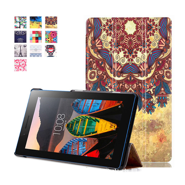 Print PU Leather Stand Cover Case For Lenovo Tab 3 7 Essential 710 Tablet Protective For Tab3 710F 710I Cover Case
