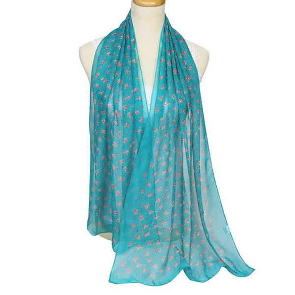 New Spring and Summer Floral Thin Soft Decoration Warm Shawl Sweet Plain Weave Japanese and Korean Gift Ladies Scarves