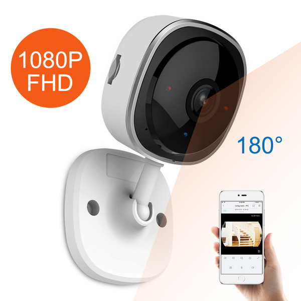 HD 1080P Fisheye IP Camera Wireless Wifi Mini Network Camara Night Vision IR Cut Home Security Camara Wi-Fi Baby Monitor