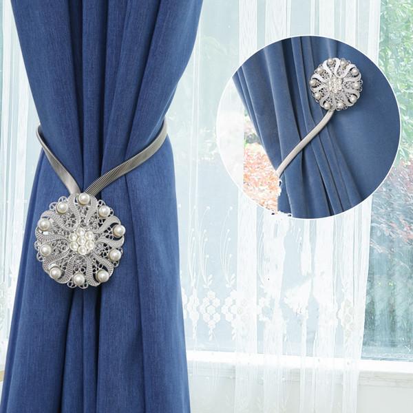 2 adet Çiçek Şekli Manyetik Perde toka Mıknatıs Perdeleri Tieback Pencere Tarama Topu Klip Tutucu ev Perde Aksesuarları