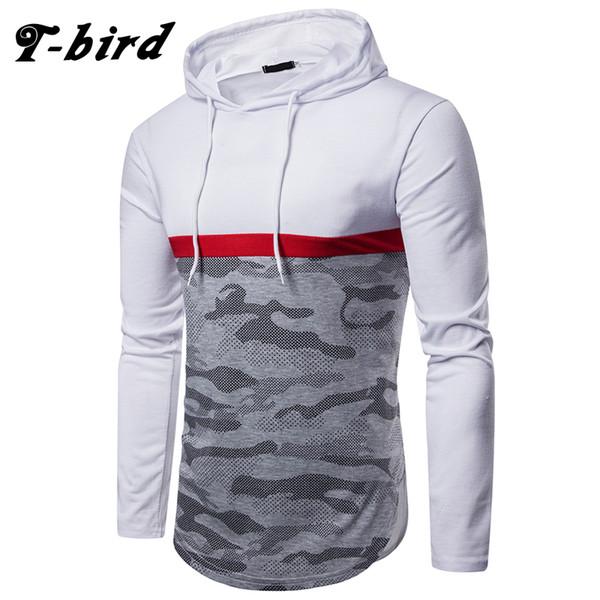 T-bird hoodies homens 2018 marca outono camuflagem impressão camisola moletom masculino moda mens hoodie do pulôver do pulôver com capuz
