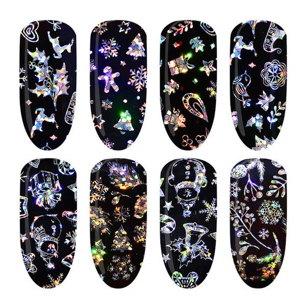 Gioielli Fiore Decalcomania Acqua Adesivo nero per Nail Pattern Painting Wrap Paper Foil Polish Tips Tattoo Manicure 2019 donne
