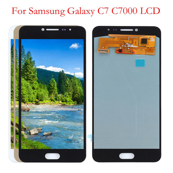 """5.7"""" AMOLED LCD for SAMSUNG Galaxy C7 LCD Display C7000 Touch Screen Digitizer Replacement For Samsung C7 LCD"""