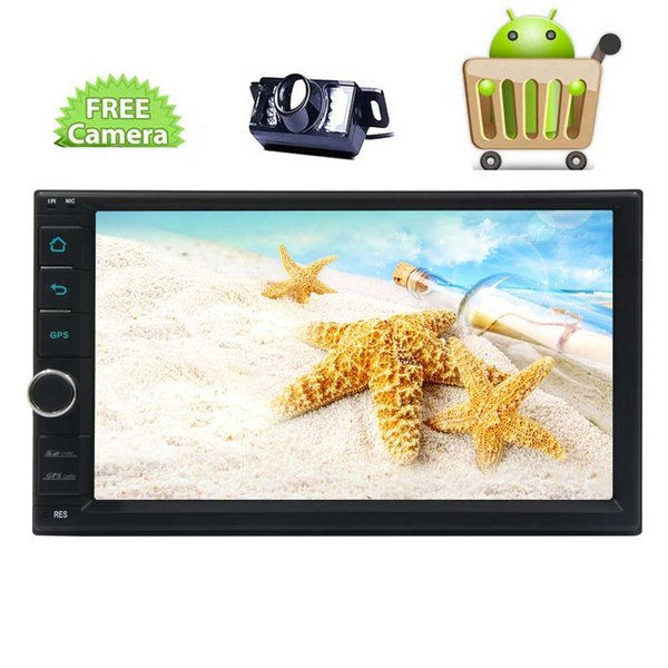 EinCar Android 6.0 Quad Core Car Stereo GPS Navigation 7'' Capacitive Touch Screen Double Din Car Radio In Dash Headunit Bluetooth No-DVD