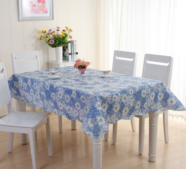 Dandelion pvc Table Cloth Flower Print Multifunctional Rectangle Table Cover Tablecloth Coffee table cloth Waterproof Oilproof free shipping