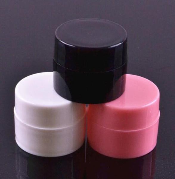 Concentrado negro frascos de plástico 5g contenedores de almacenamiento de crema frasco contenedor de cera de almacenamiento vape accesorios logotipo personalizado imprimir fabricación de china