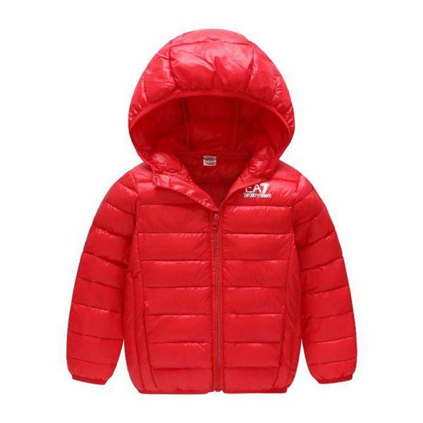 Kind Kind Winter Warm Daunenmantel Mädchen Jungen Mit Kapuze Daunenmantel Winter kinder outwear warm Daunenmantel 2-10 T