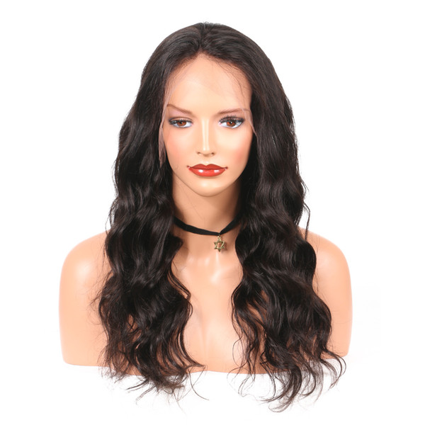 100% unprocessed pure aaaaaa soft new arrival virgin human hair natural color big curly long full lace top wig for sale