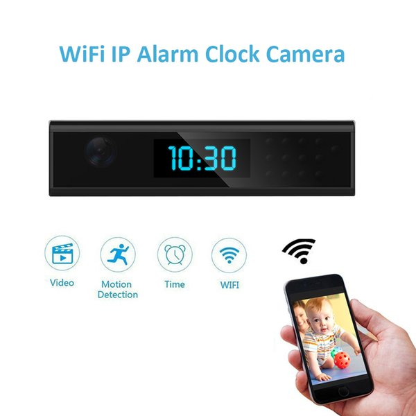 Mini Wifi Clock Camera Full HD 1080P Wireless Night Vision Table Clock Camera Small Home Security Camera