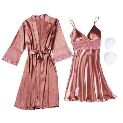 2019 High Quality Women Lace Sleeping Clothes 4 Seasons Fashion Sexy ... 197f22982