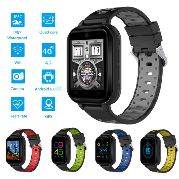 4G Smart Watch Cell Phone Waterproof Sports Wirst GPS Watch WIFI SIM Card LTE FDD 4G 3G Data Capable Heart Rate Monitor Pedometer