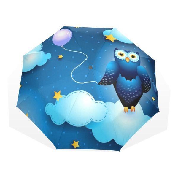 Original Cute Owl Automatic Umbrella Sun Rain Women Cartoon Animal Parasol Lady Plegable Sombrilla Paraguas