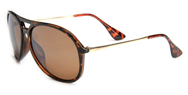 Brand Designer UV400 Leopard Rubber Tortoise Frame Brown Gradient 59mm Lens Black light Brown Sunglasses With Case