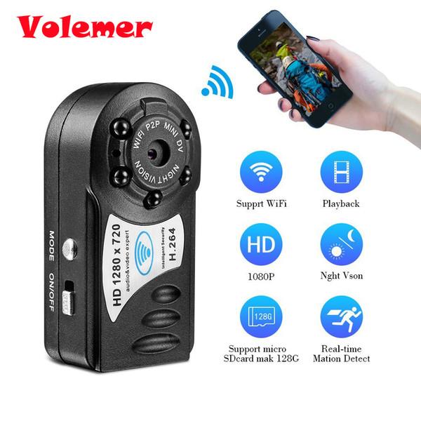 Volemer Q8 Wifi IP Mini Camera 720P HD Wireless Night Vision Micro Camera Motion Detection DV DVR Mini Camcorder Video Recorder