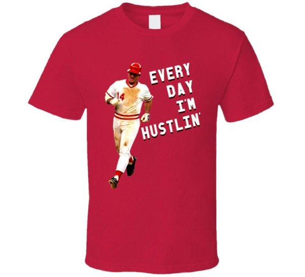 Baseball Cincinnati Every Day Im Hustlin Rose T Shirt