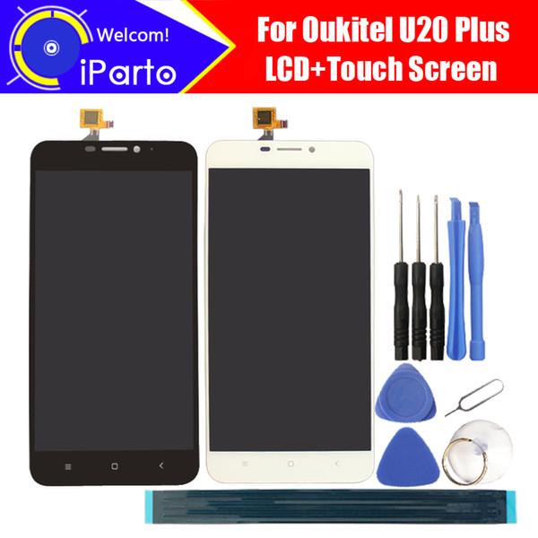 Display LCD Oukitel U20 Plus da 5,5 pollici + Touch Screen Digitizer Assembly Nuovo digitalizzatore LCD + Touch originale al 100% per U20 Plus + Strumenti