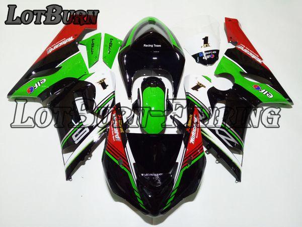 Fit für kawasaki ninja zx6r 636 zx-6r 2005 2006 05 06 motorradverkleidung kit hochwertige abs kunststoff spritzguss nach maß 02