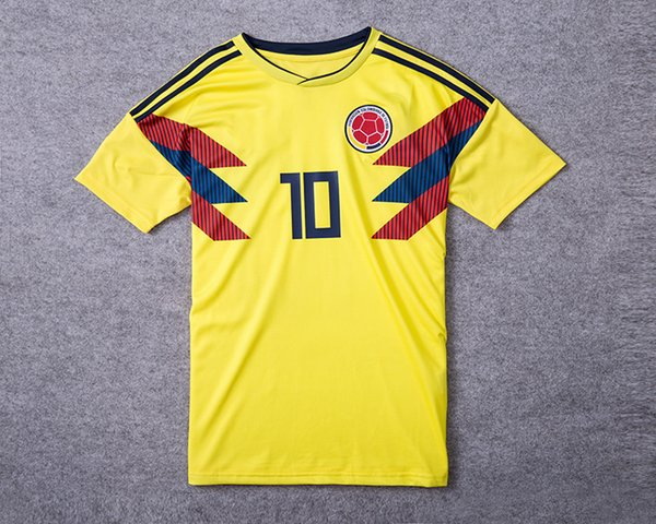 on sale 07bdf 55b03 2017 2018 World Cup Colombia Soccer Jerseys Colombia Home Yellow Soccer  Shirt #10 James #9 Falcao National Team Football Uniform From Lxx199198,  $15.6 ...
