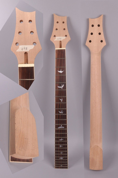 Nova guitarra elétrica pescoço 24 traste de substituição Inacabado 25.5 polegada Pássaro inlay Truss rod PRS # 13