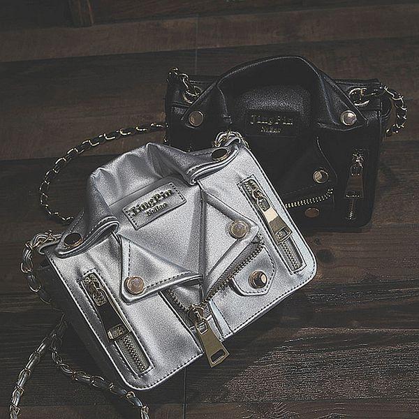 2018 New Fashion Women Handbags Chain Rivet Casual Ladies Shoulder Bag Jacket Trend Clothes Shape Crossbody Bags For Women H04