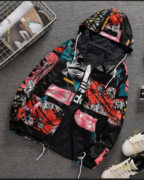 Ms Desgaste de doble cara Abrigo de camuflaje Versión coreana Moda impresa gabardina Casual running top nuevo estilo al por mayor