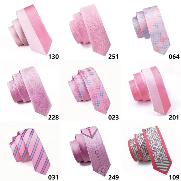 Pink color Mens Neck Tie Set High Quality Cheap Fashion Accessories Classical Adult Necktie Ties For Mens Neckties