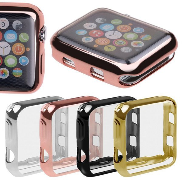 Electroplating Case Cover for Apple Watch Series 3 Series 2 42mm 38mm Full Protection Shell Smart Accessories
