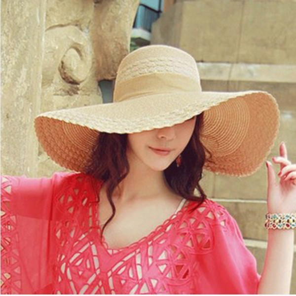 Wide Brim Floppy Kids Straw Hat Sun Hat Beach Women Children Summer UV Protect Travel Cap Lady Girls Cap Female