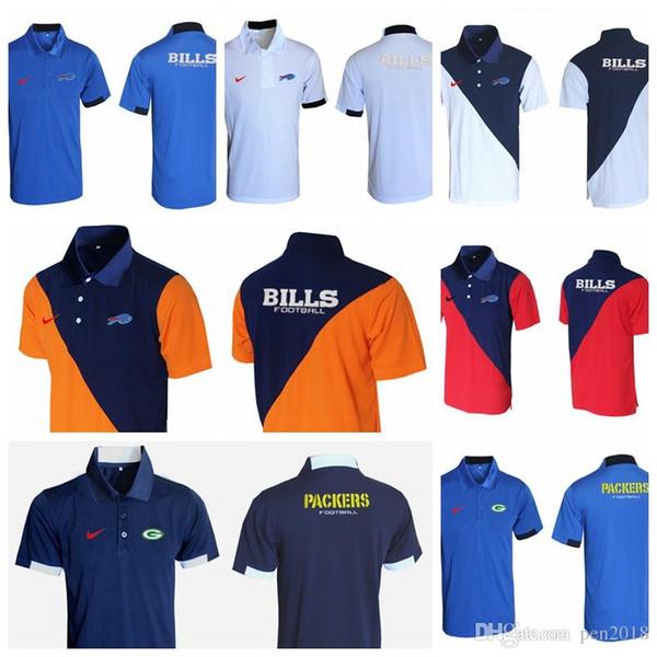 Camisetas Nueva camiseta de rugby para hombres Green Bay Packers Marrones Steelers Buffalo Bills Minnesota Vikings Evergreen Polo Varios estilos y col