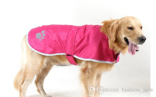 Atacado Cheap Dog Raincoat Nylon Large Dog Raincoat impermeável jaqueta cão Warm Clothes Nova Alta Qualidade Reflect Dog Coat Pet Raincoat