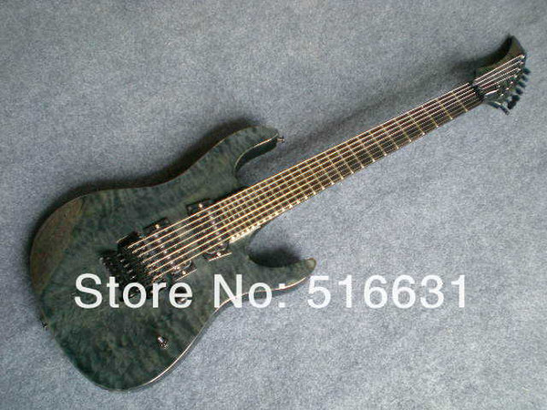 Free shipping Wholesale - Hot selling 7 strings gray pearl electric guitar in stock