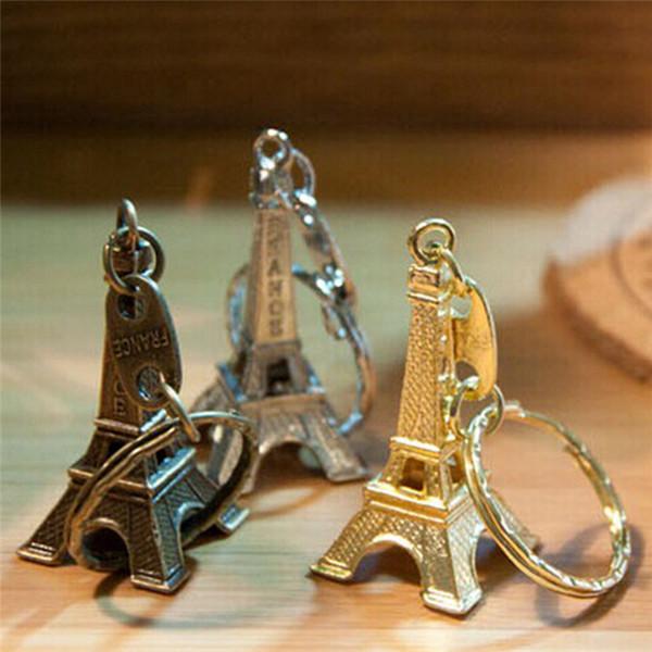 best selling Hot sale Eiffel Tower alloy keychain metal key chain Eiffel Tower key ring Metal Keychain France Eiffel Tower keychain of bag 3 color