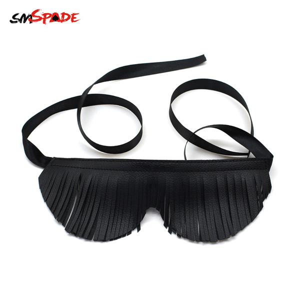 SMSPADE Sex Toys Bondage Masks Fetish Toys Bondage Real Leather Blindfold Sex Toys for Woman Games Mask bdsm Slave Adult Game S924