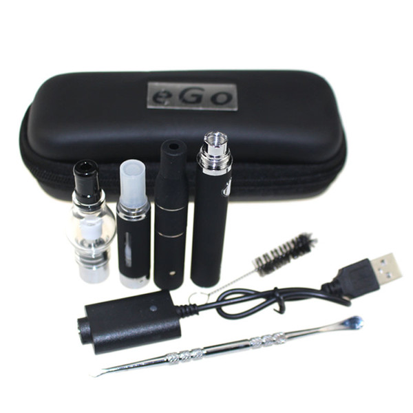 3 in 1 case kit Wax Vaporizer Pen Kit Dry Herb electronic cigarettes with atomizer MT3 Glass atomizer EVOD Battery 650mah 900mah 1100mah