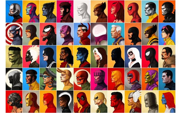 Hot Superheros Marvel character DC Comics Pop Art Modern Print Poster Abstract Painting Wall Pictures For Living Room Home Decor