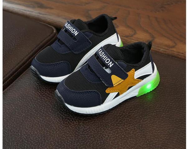2018 spring children's sports shoes, fashion girls, shoelaces, boys' tennis shoes.