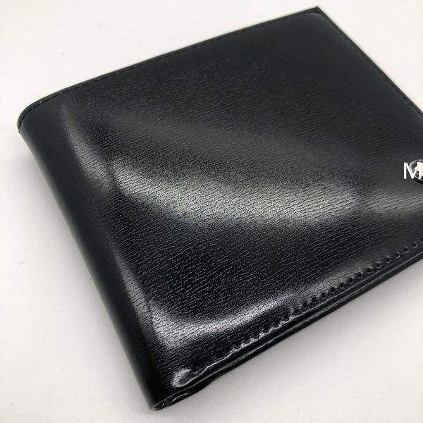 Luxury Men Fashion Leather Wallet MB Short Clip Artisan Designer Card Pack MT Business Card Holder High Quality M B Hot Wallets
