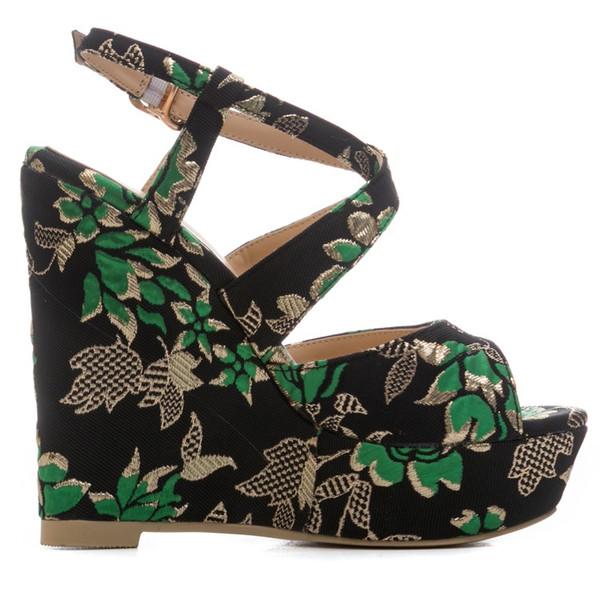2018 nova moda cunha e plataforma sandálias de dedo aberto da menina excelente dia vestindo sapatos mulheres vestido de sapatos por atacado China sexy sandálias