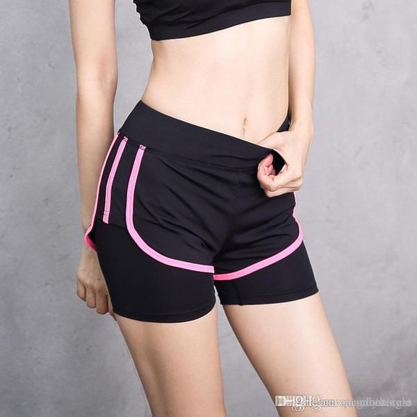 Verano nueva ropa de yoga de fitness femenino falso dos pantalones cortos súper delgados rápidos y secos transpirables pantalones para correr pantalones de yoga