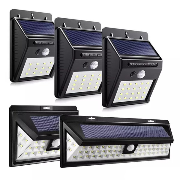 12/16/20/24/54 LEDs LED Solar Power lights PIR Motion Sensor Wall Light Outdoor Waterproof Energy Saving Garden Security solar Lamp