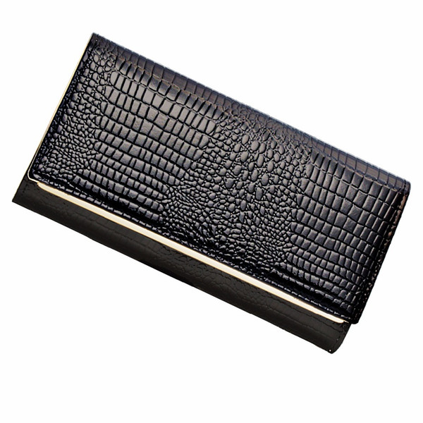 AOEO Hand Holdings Women Wallets Long Design With Phone Pocket 6 Color Black Gold Ladies Lock Coin Purse Luxury Wallet Female