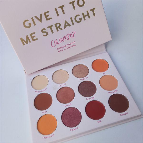 Yeni Colourpop 12 renkler Göz Farı Paleti bana ver düz Glitter toz pigment göz farı paleti 12 renkler makyaj göz farı paleti
