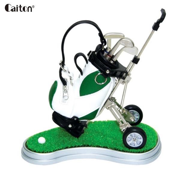Großhandel Neuheit Minigolf Tasche Kugelschreiber Halter Weihnachten Golf Souvenir Tour Neuheit Golfer Geschenk-Set
